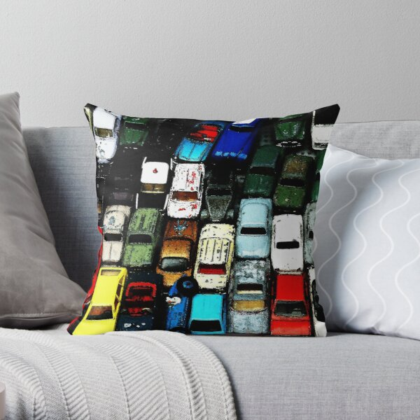 Friday Night Crawl Home Throw Pillow
