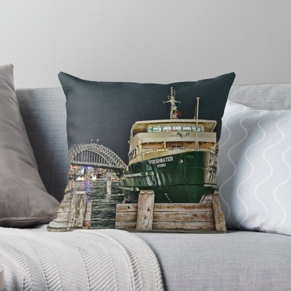Sydney Series - Manly Ferry Throw Pillow