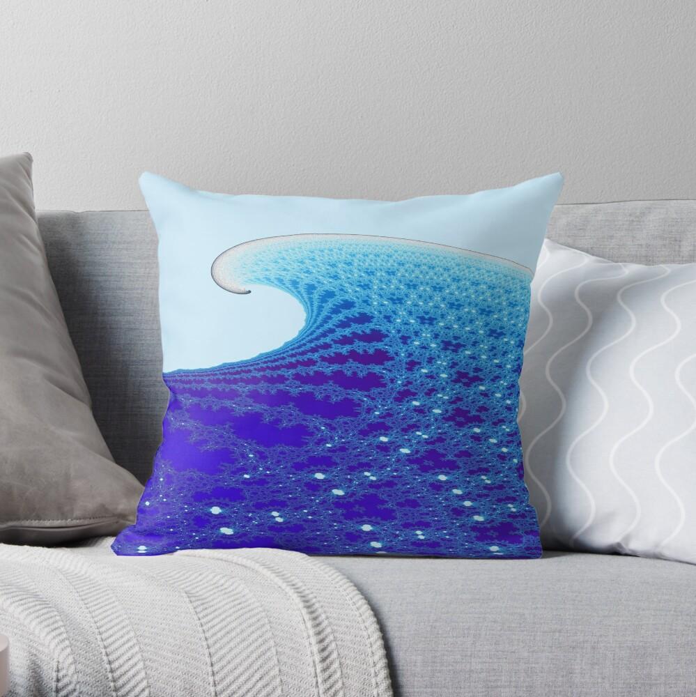 Perfect Wave 3 Throw Pillow