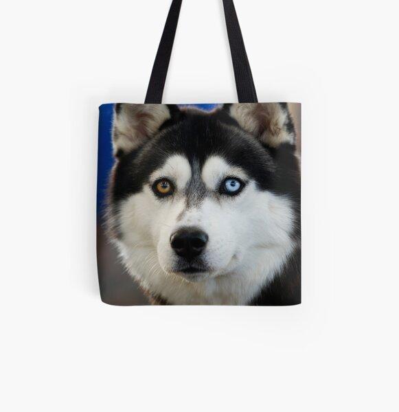 Siberian Husky All Over Print Tote Bag