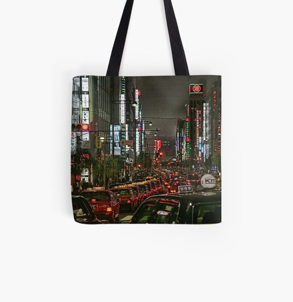 Tokyo Taxis All Over Print Tote Bag