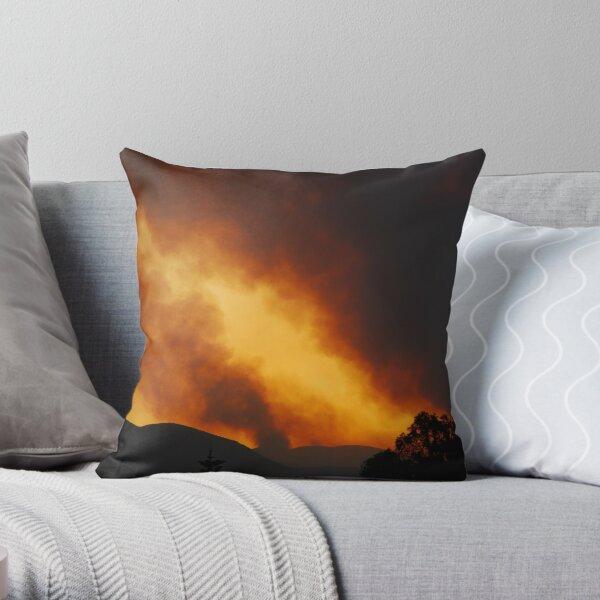 Mountain Fire Throw Pillow