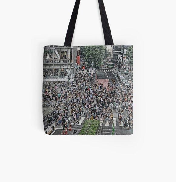 Shibuya Shuffle All Over Print Tote Bag