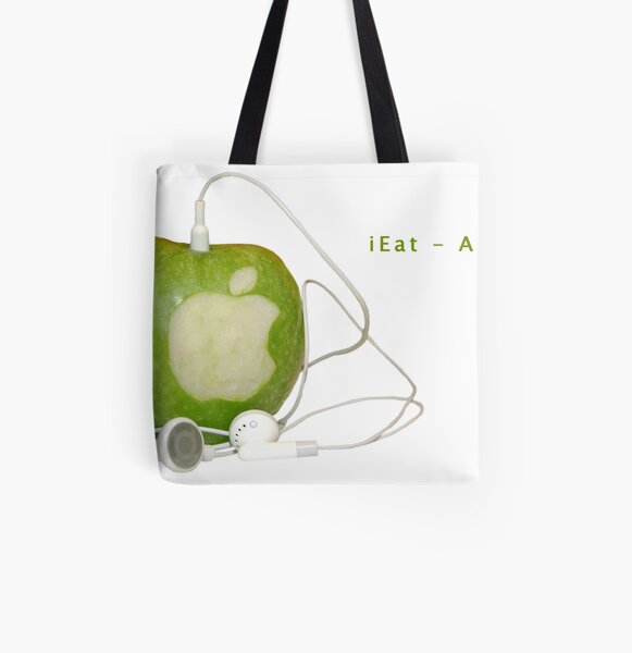 iEat - Apple All Over Print Tote Bag