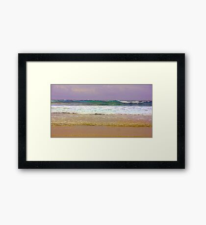 What colour is the sea? Framed Print