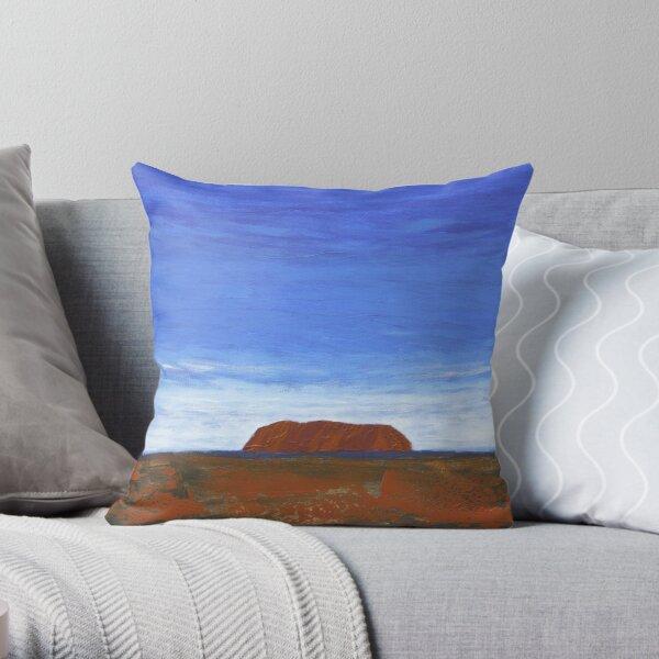 THE DISTANT ROCK (ULURU, CENTRAL AUSTRALIA) Throw Pillow