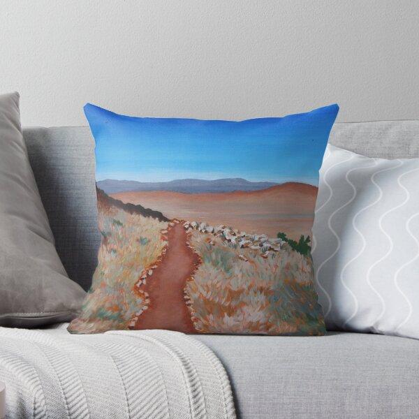 ROAD TO NOWHERE (AUSTRALIAN OUTBACK) Throw Pillow