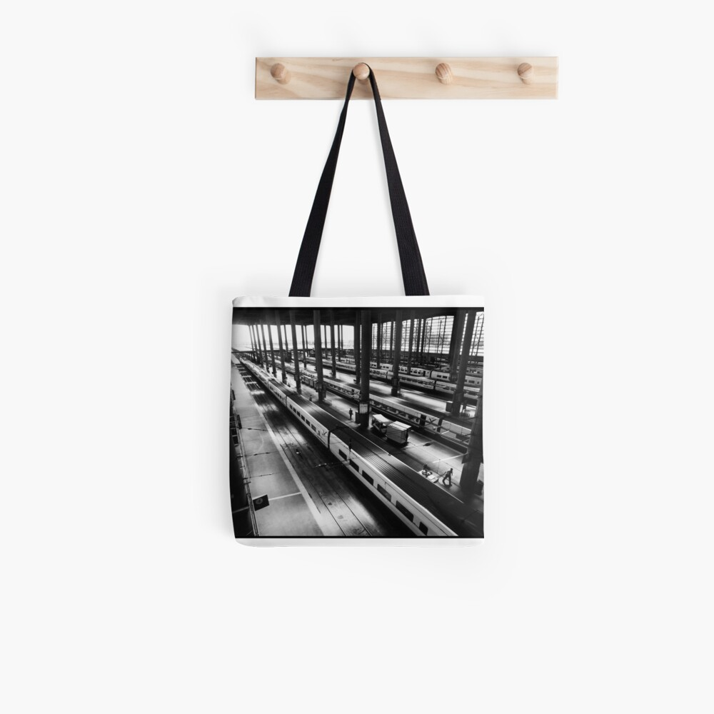 Atoche Train Station Madrid A to B Tote Bag