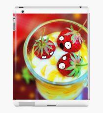 Strawberry Dessert Surprised Doodle iPad Case/Skin