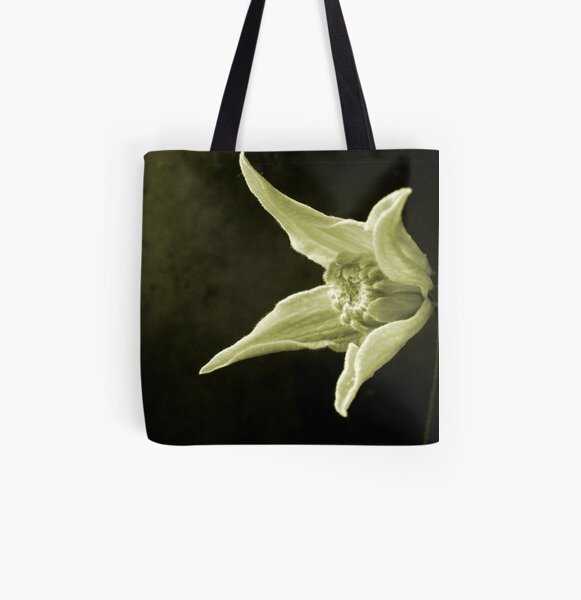 Clematis Study All Over Print Tote Bag
