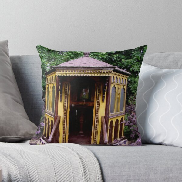 Old Russian Country Church6 Throw Pillow