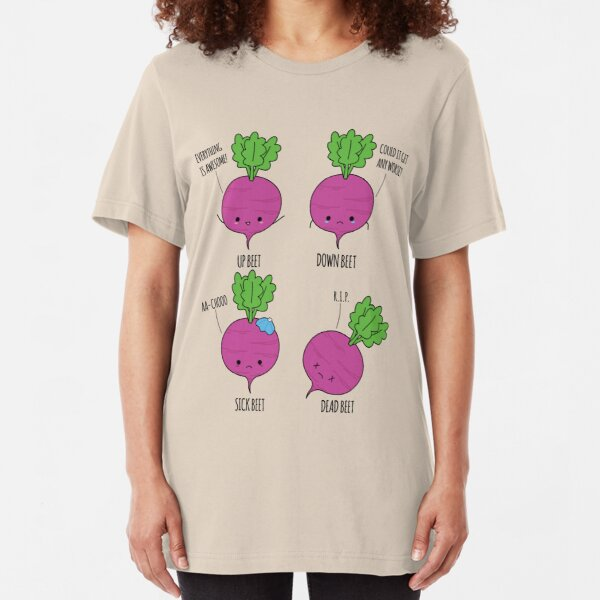 Beet Puns Slim Fit T-Shirt