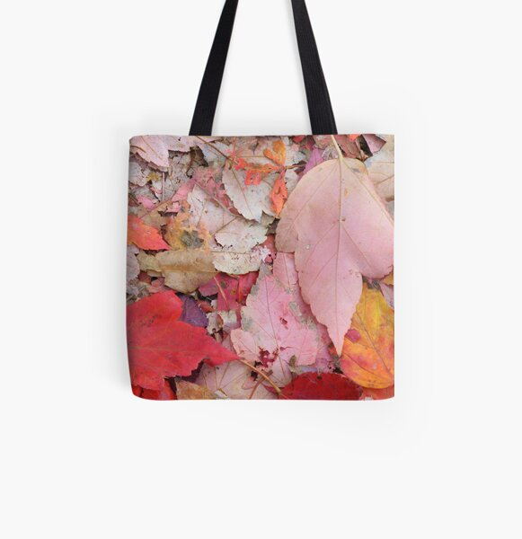 Leaves Fall All Over Print Tote Bag