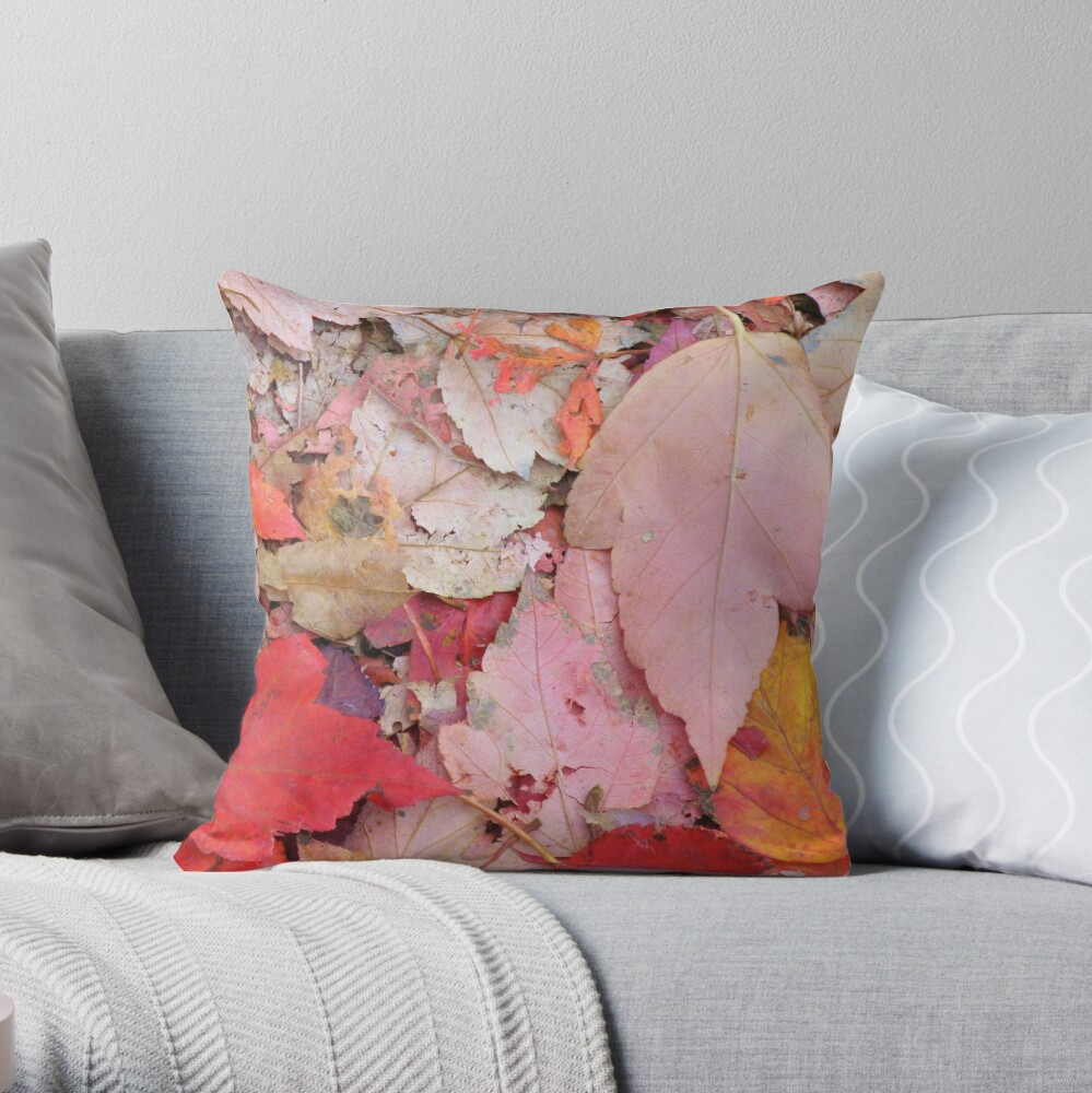 Leaves Fall Throw Pillow