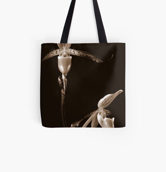 Two Orchids All Over Print Tote Bag