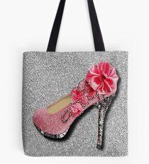 ROSE GLITTER  FASHION HIGH HEEL SHOE Tote Bag