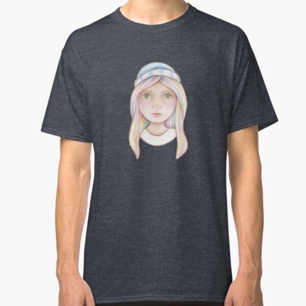cute little girl with rainbow coloured hair  Classic T-Shirt
