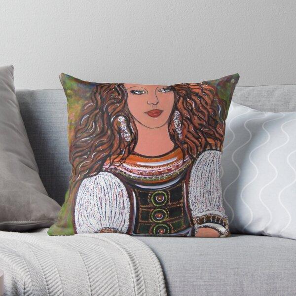 la doncella Throw Pillow
