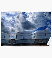 3 oil tanks Poster