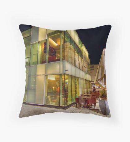 Glass Cafe Throw Pillow