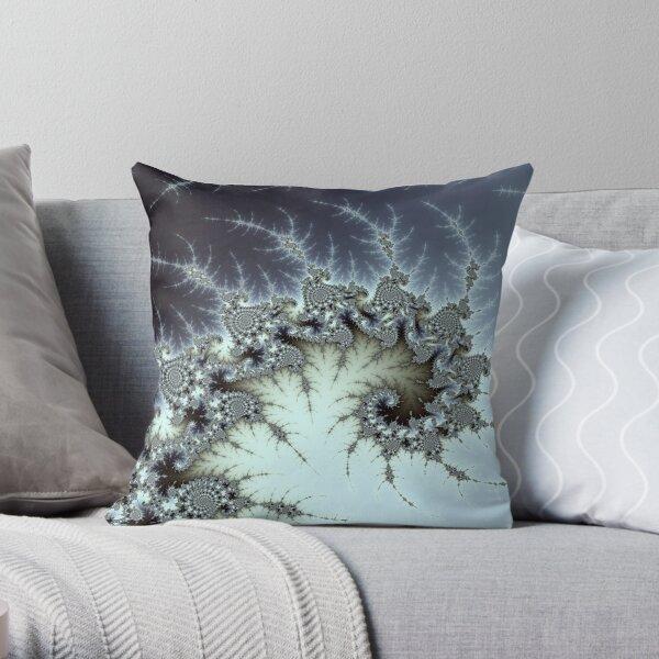 Ice Fractal Throw Pillow