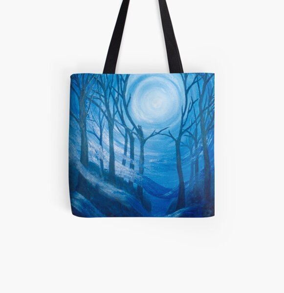 U Storm Moon Allover-Print Tote Bag
