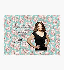 Tina Fey on Beauty Photographic Print