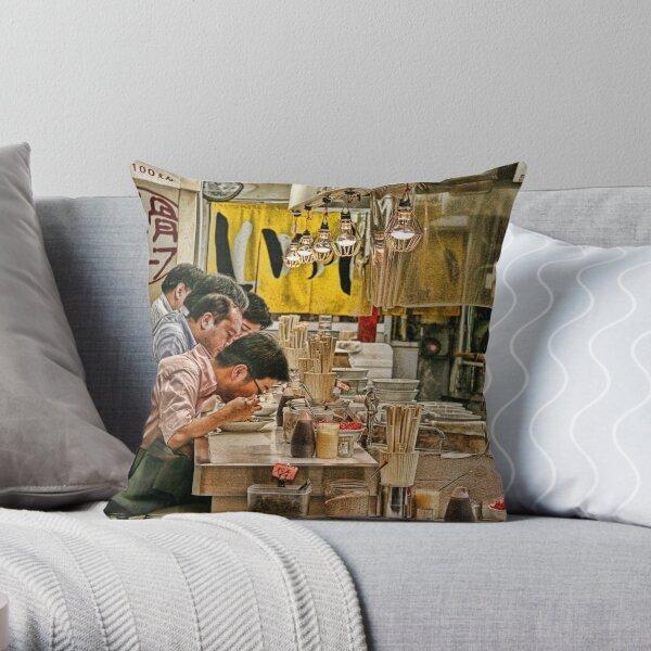 Tokyo Diner Throw Pillow