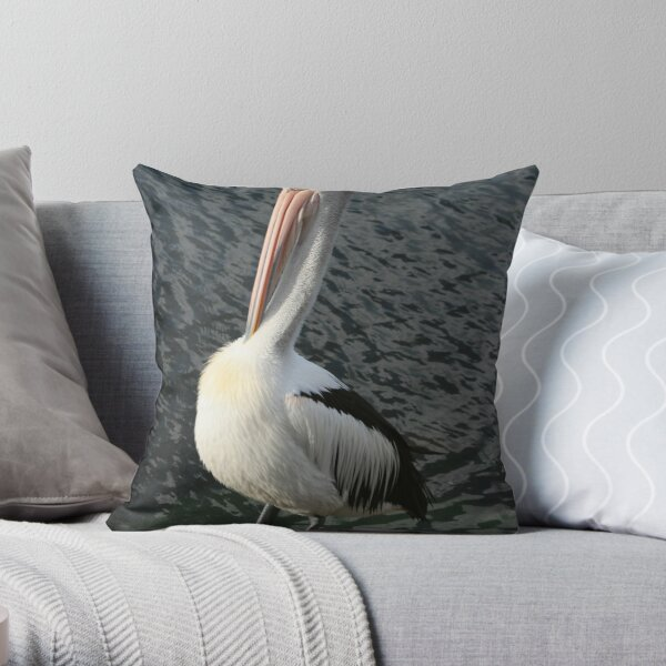 Pelican Preen III Throw Pillow