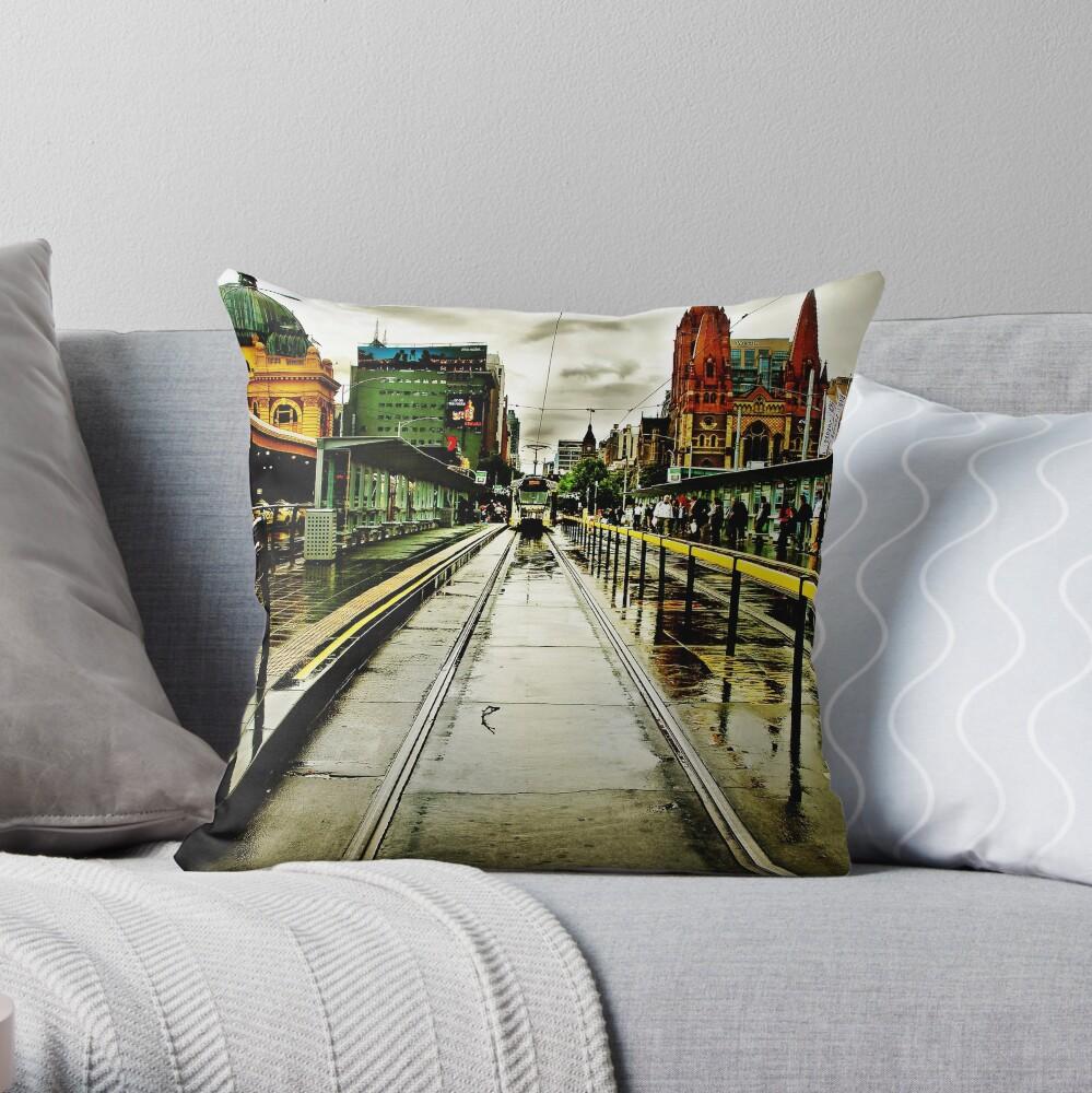 Princes Bridge Throw Pillow