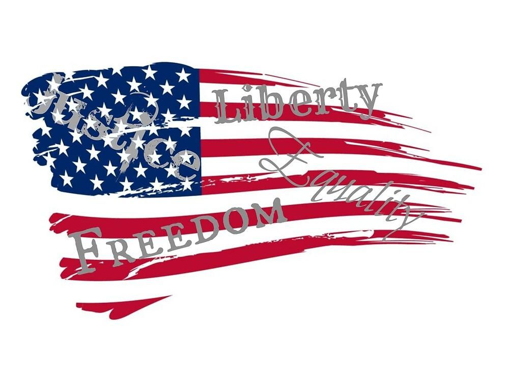 American Values Wavy Flag by DesignsbyAngela
