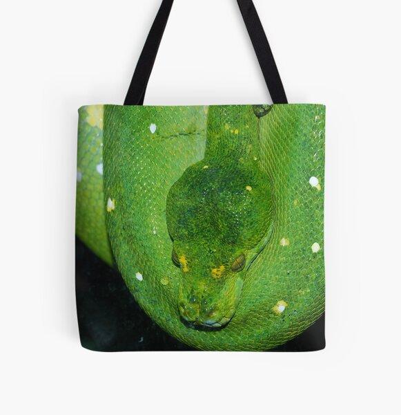 Green Tree Python - Malaysia All Over Print Tote Bag
