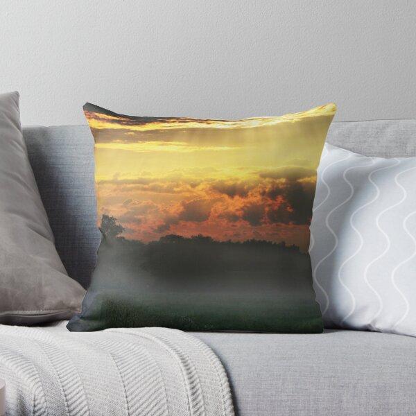 Daybreak on the way Throw Pillow