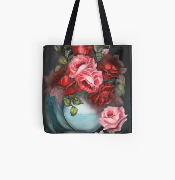"""""""Roses"""" All Over Print Tote Bag"""