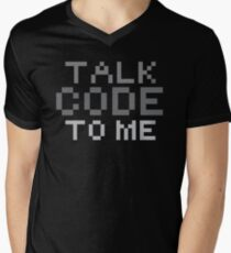 Talk code to me Mens V-Neck T-Shirt
