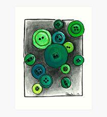 Button Envy Art Print