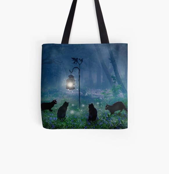 The Witches Cats All Over Print Tote Bag