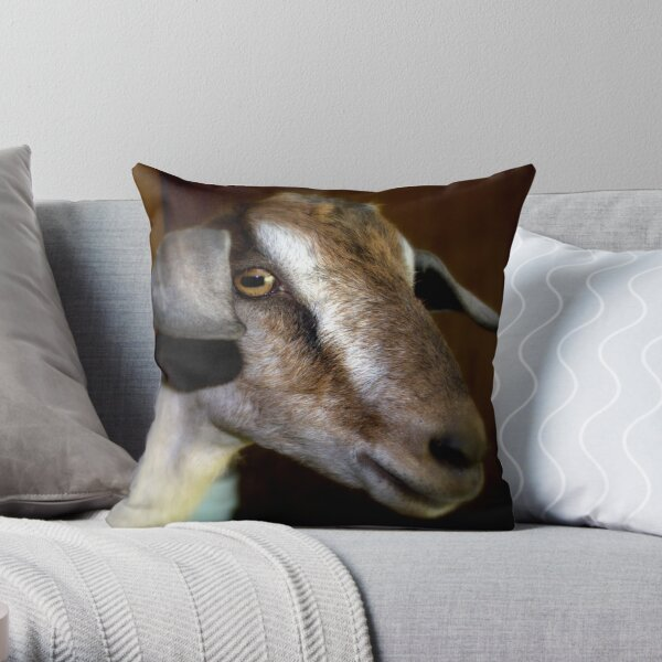 Sugar The Dairy Goat Throw Pillow