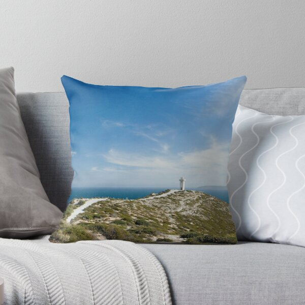 The Light on the Hill. Throw Pillow
