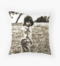 Unposed kids photography Throw Pillow