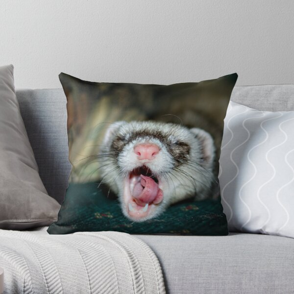 Love is a Ferret. Throw Pillow