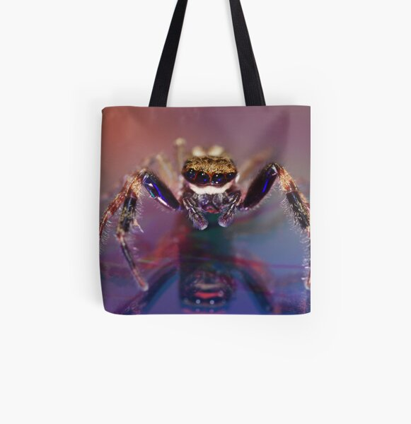 Jumping spider All Over Print Tote Bag