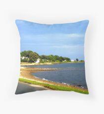 Lamlash Beach Throw Pillow