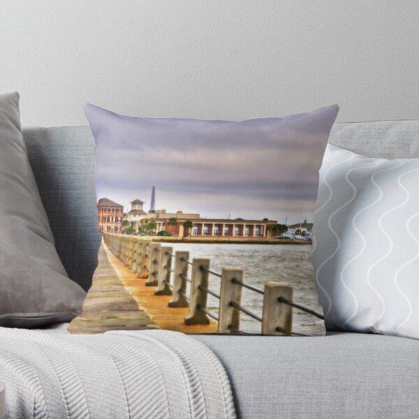 Charleston Harbour Throw Pillow