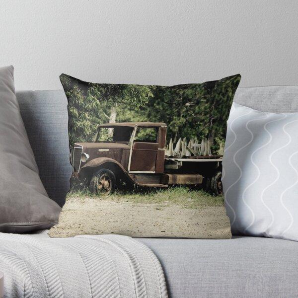 Keep on Trucking Throw Pillow