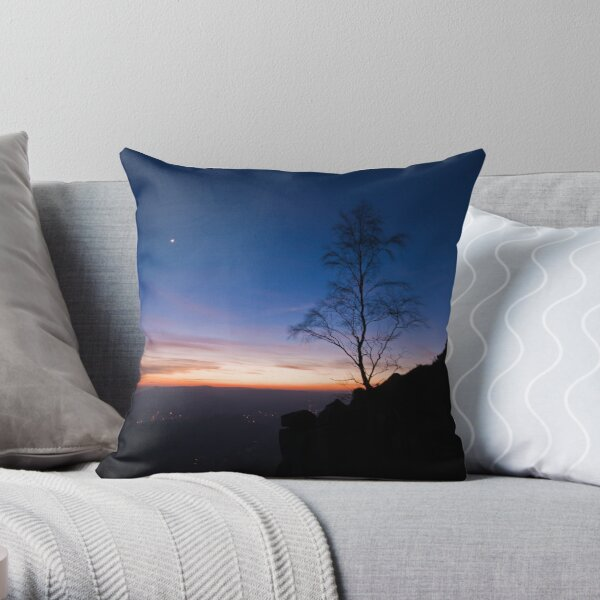 Life on the Edge II Throw Pillow