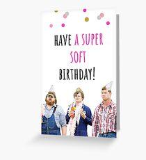 Letterkenny Geburtstagskarte, Aufkleber, Digital Art, Comedy, TV, Humor, Humor, Kanadier, Geschenk, Geschenk, Ideen, haben einen super weichen Geburtstag! Grußkarte