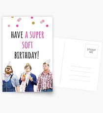 Letterkenny birthday card, sticker, Digital art, comedy, tv, humor, humour, Canadian, gift, present, ideas, have a super soft birthday!  Postcards