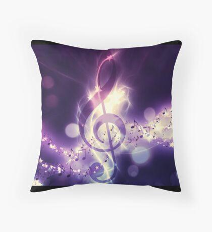 Glühender Musikhintergrund Dekokissen