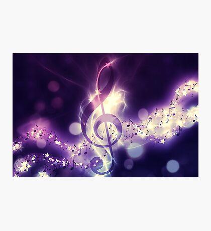 Glühender Musikhintergrund Fotodruck